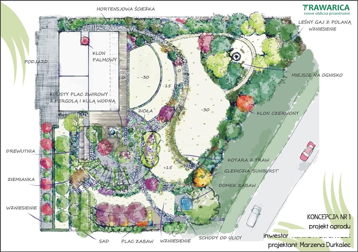 Projekt ogrodu w Trzebnicy