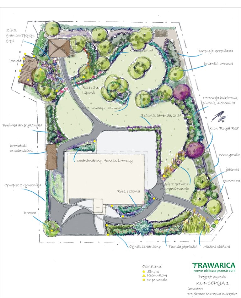 Projekt ogrodu krajobrazowego, Smolec