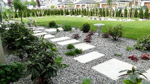 Geometryczny ogród w Wysokiej