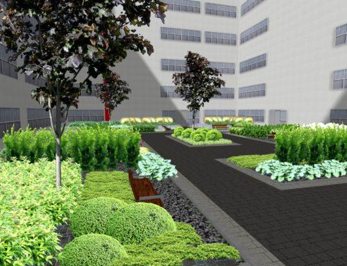 Projekt zagospodarowania zieleni w atrium biurowca